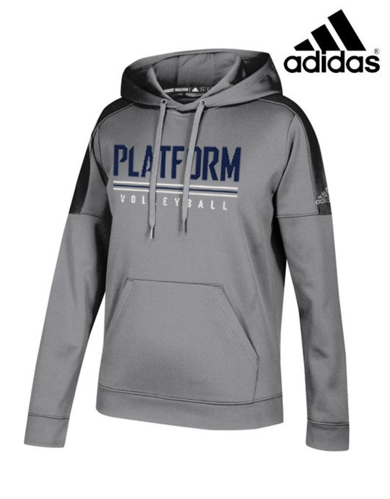 Adidas Platform Elite adidas Women's Team Issue Hooded Sweatshirt-Grey
