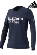 Adidas Platform Elite adidas Women's Go-To Soft Long Sleeve Tee-Navy