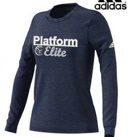 Adidas Platform Elite adidas Women's Go-To Soft Long Sleeve Tee-Navy