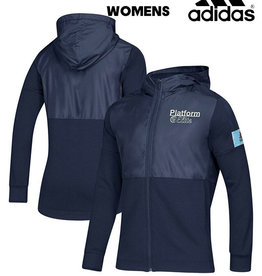 Adidas Platform Elite adidas Women's Game Mode Full Zip Jacket w/Hood-Navy/Light Blue