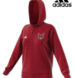 QC Heat adidas Women's Team Issue Full Zip Hooded Sweatshirt-Power Red