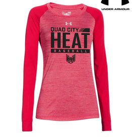 Under Armour QC Heat Under Armour Women's Novelty Long Sleeve Tee-Red