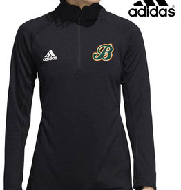 Adidas Barnstormers adidas Ladies Game Mode Long Sleeve Performance 1/4 Zip-Black