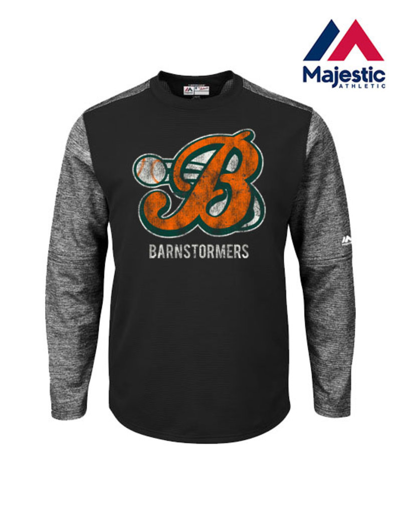 Majestic Barnstormers Majestic Authentic Therma Base Tech Crew-Black