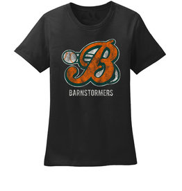 Barnstormers Ladies Premium Cotton Tee-Black