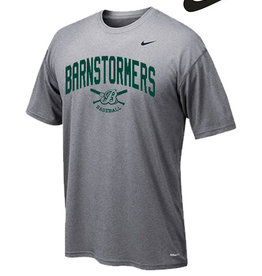 Nike Barnstormers Nike Legend Short Sleeve Tee-Carbon Heather