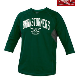 Rawlings Barnstormers Rawlings 3/4 Sleeve Performance Shirt-Dark Green