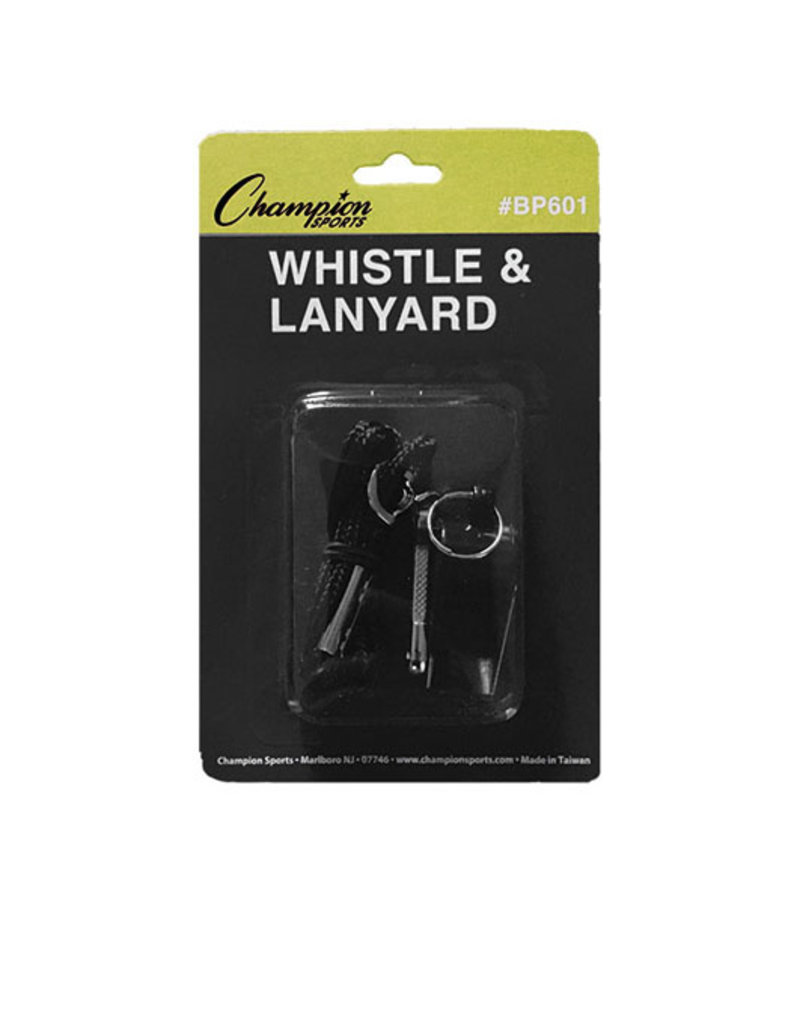 Champion Champion Medium Weight Plastic Whistle and Lanyard