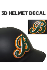 """B"" 3D Baseball Helmet Decal"