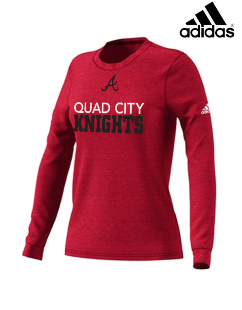 Adidas QC Area Knights adidas Women's Go-To Soft Blend Long Sleeve Tee-Power Red