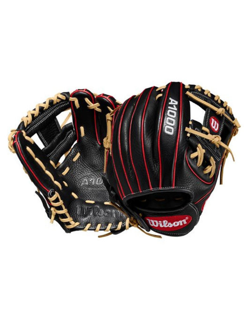 "Wilson Wilson A1000 11.25"" Baseball Glove (right hand throw) Black/Blonde"