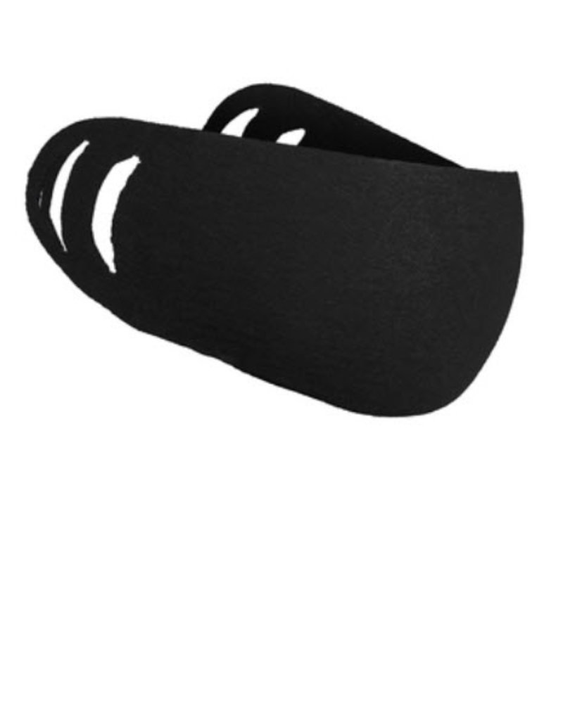 Face Mask- 50/50 Cotton/Poly Face Covering Black