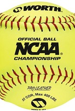 "Worth Rawlings Official 12"" NCAA Pro Leather Softball-Dozen"