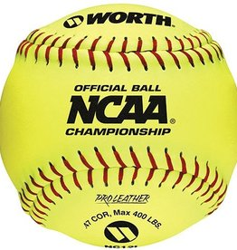 "Worth Rawlings Official 12"" NCAA Pro Leather Softball-Dozen"