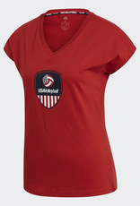 Adidas Adidas Women's USA Volleyball V-Neck Cotton T-shirt