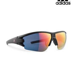 Adidas adidas Evil Eye Halfrim Sunglasses-Black Matte/Red Mirror