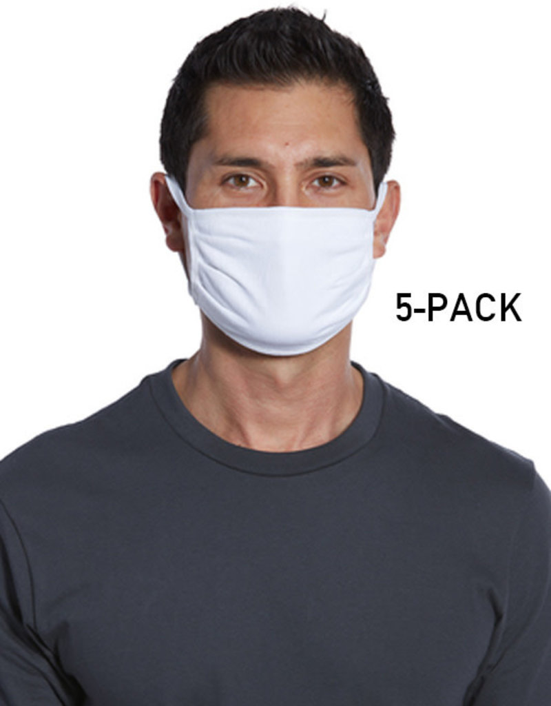 Port Authority Cotton Knit Face Mask-5 Pack