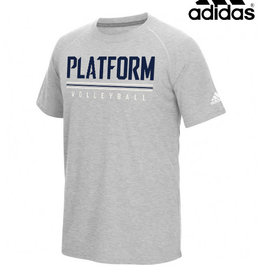 Adidas Platofrm Elite adidas Climalite Ultimate Short Sleeve Performance T-Heather Grey