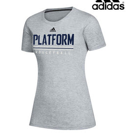 Adidas Platform Elite adidas Women's Creator Short Sleeve Tee-Medium Grey Heather