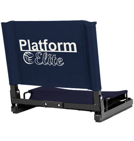 Platform Elite Standard size Stadium Chair - Navy