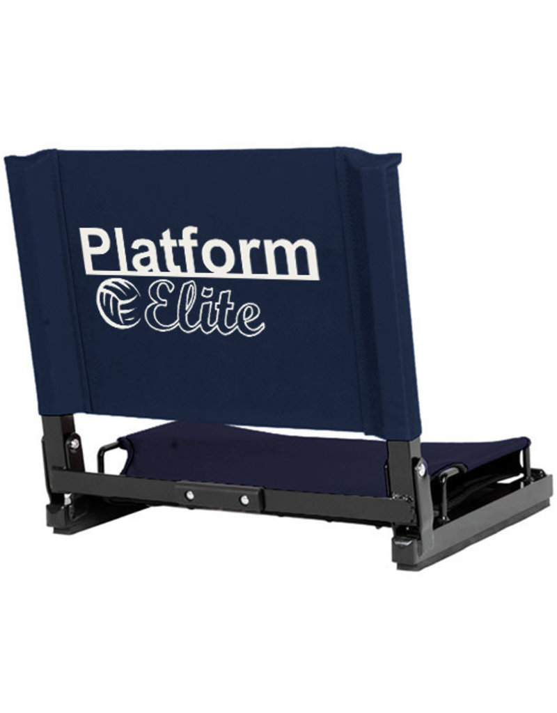 Platform Elite Standard size Stadium Chair - Navy