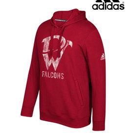 Adidas Davenport West Falcons adidas Fleece Hooded Sweatshirt-Power Red