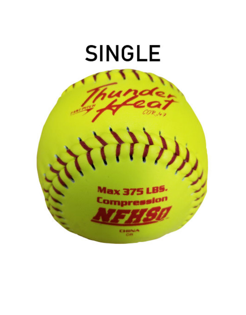 """Dudley Dudley NFHS Composite Leather 12"""" Softball Single Ball (47/375 poly core)"""