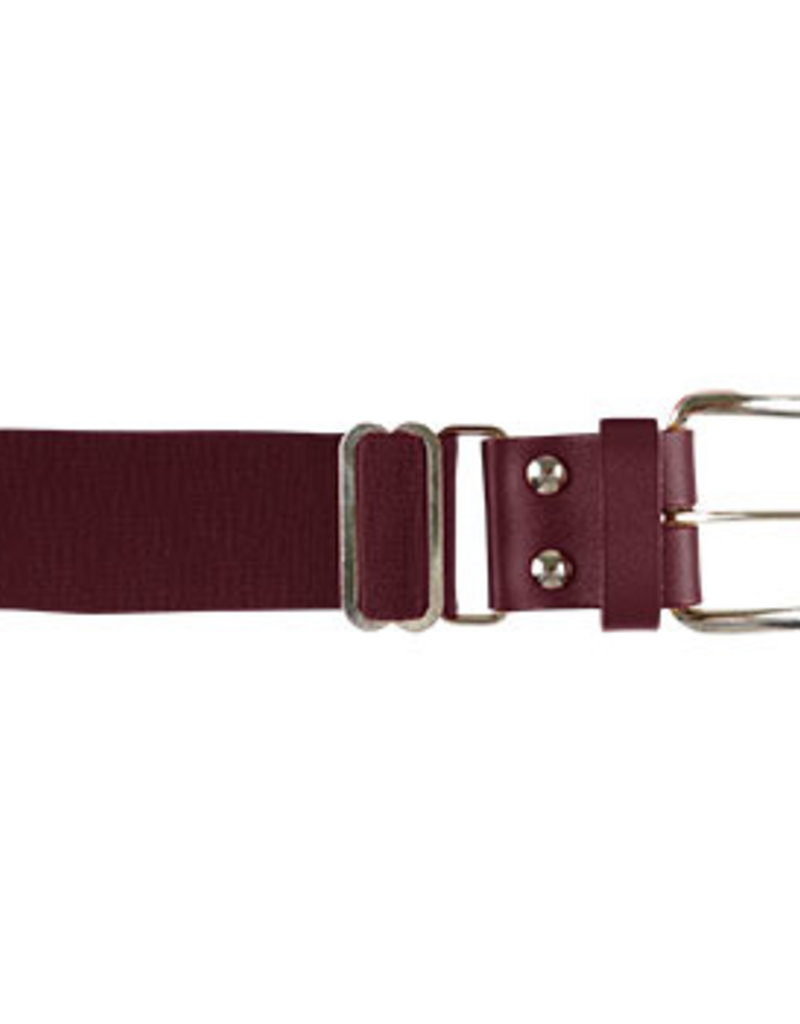 "Adult 1-1/2"" Leather Tab Baseball Belt"