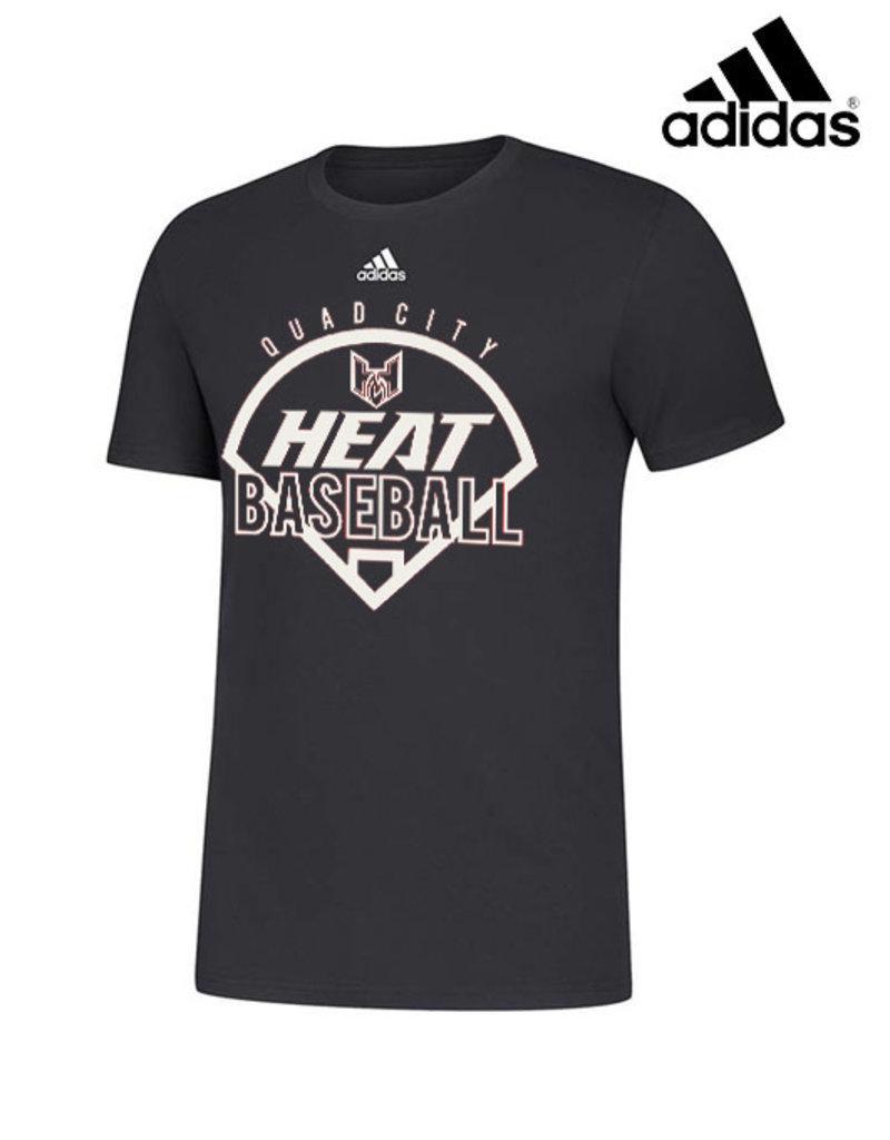 Adidas QC Heat adidas Amplifier Cotton Short Sleeve Tee-Black