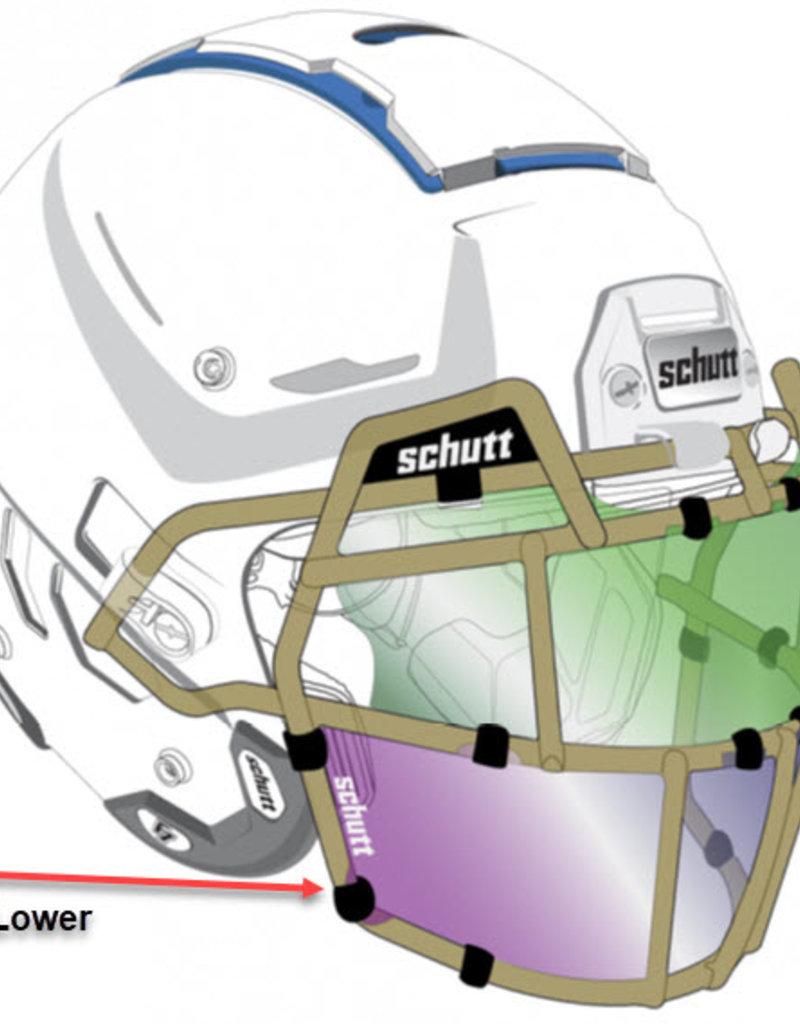 Schutt Schutt Football Helmet Splash Shield  Lower Unit(3 pack)