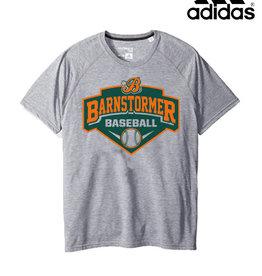 Adidas Barnstormer Baseball adidas Ultimate Short Sleeve Performance Tee-Heather Grey