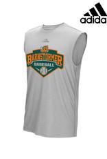 Adidas Barnstormer Baseball adidas Ultimate Sleeveless Performance Tee-Heather Grey