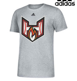 Adidas QC Heat adidas Amplifier Short Sleeve Tee-Grey