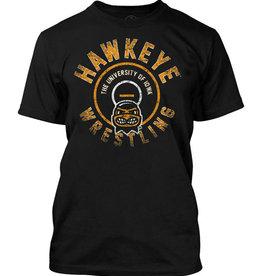 Hawkeye Wrestling Short Sleeve Tee-Black