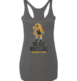 Iowa We Are Wrestling Ladies Triblend Racerback Tank-Premium Heather