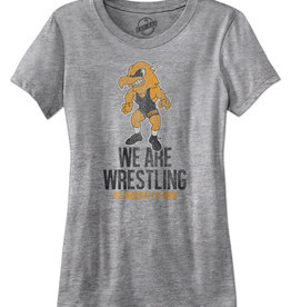 Iowa We Are Wrestling Ladies Short Sleeve Tee