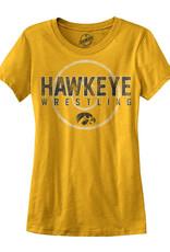 Vintage Hawkeye Wrestling Mat Ladies Short Sleeve Tee