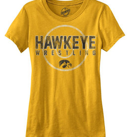 Vintage Hawkeye Wrestling Mat Ladies Short Sleeve Tee
