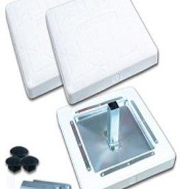 """Champro 15"""" X 15"""" X 3"""" MOLDED PRO STYLE BASE- Set of 3 -White"""