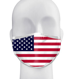 Badger 3-Ply Sublimated Mask with Ear Straps