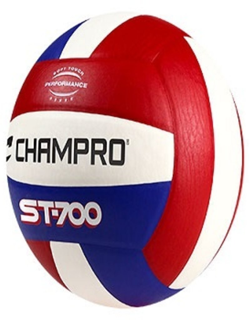 Champro PRO PERFORM VOLLEYBALL - SCARLET/WHITE/ROYAL
