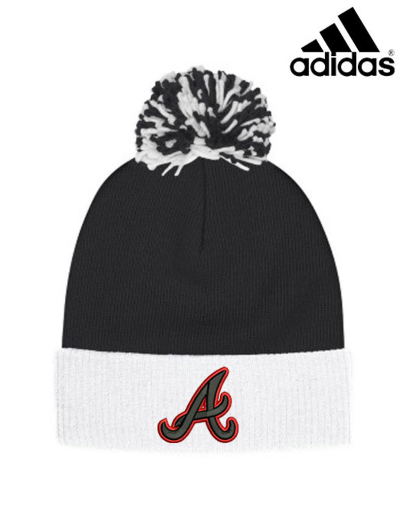 Adidas QC Area Knights Adidas Cuffed Pom Beanie-Black