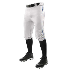 Champro TRIPLE CROWN youth  Knicker style baseball pants with braiding White w/navy braid