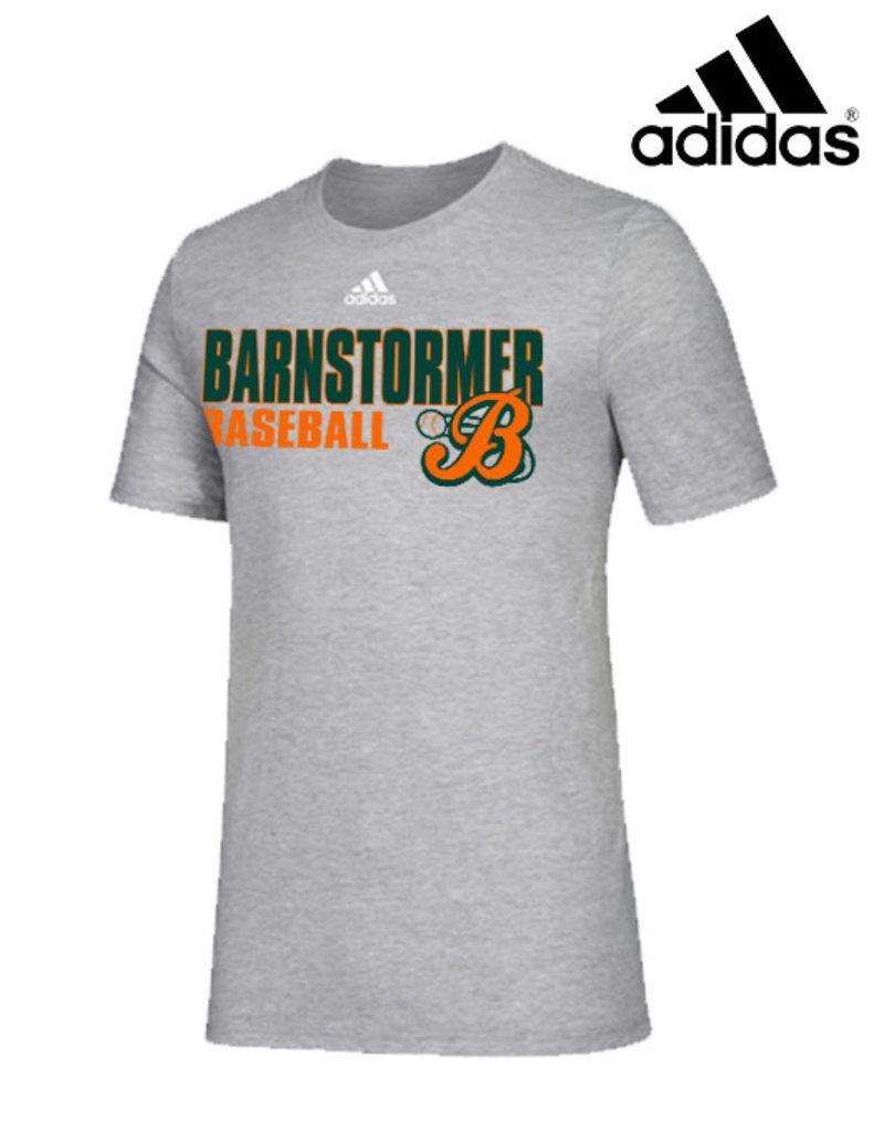 Adidas Barnstormer Baseball adidas Amplifier Cotton Short Sleeve Tee-Grey
