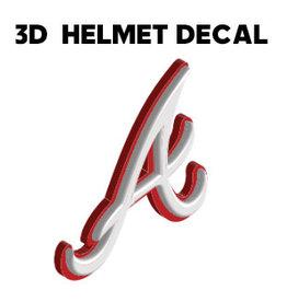 """A"" 3D Baseball Helmet Decal-QC Area Knights"