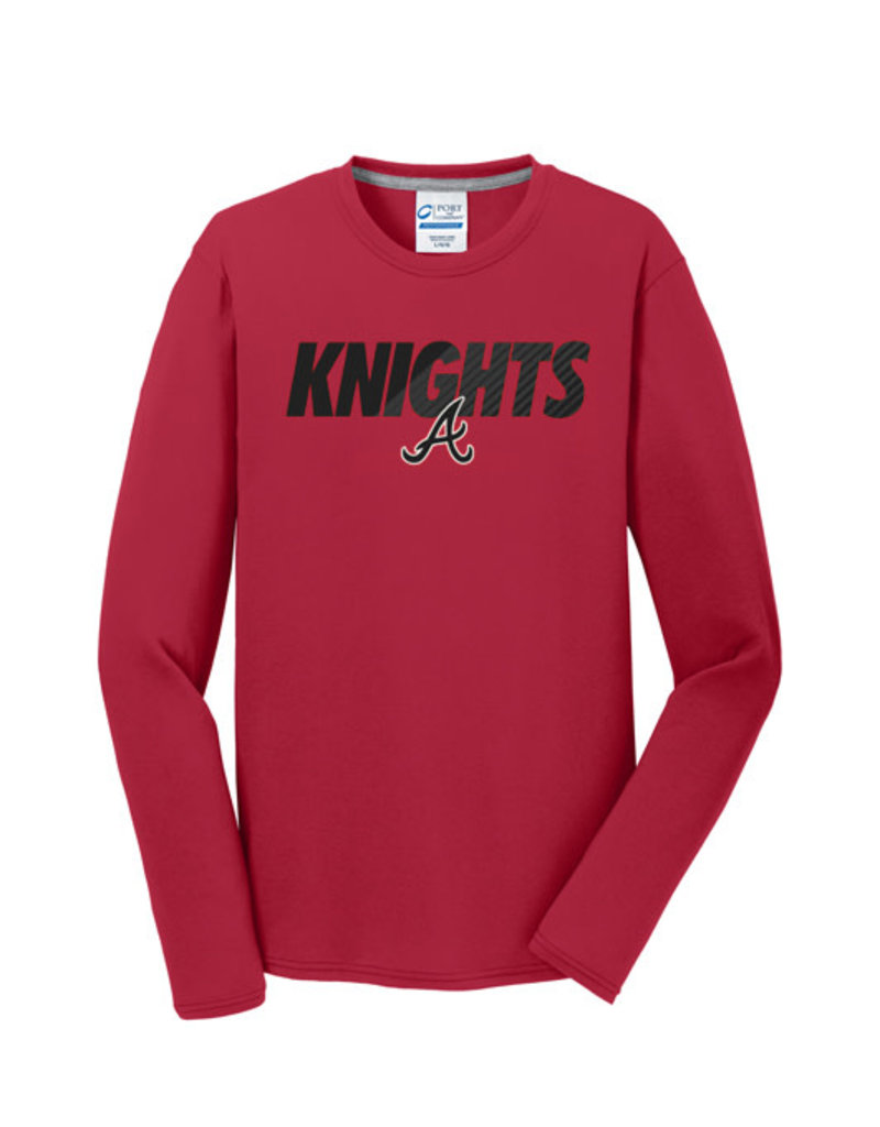 Knights Soft Blend Long Sleeve Tee-Red
