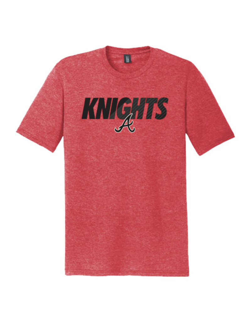 Knights Premium Triblend Short Sleeve Tee-Red Frost