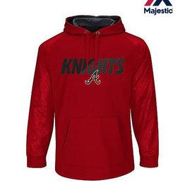 Majestic Knights Majestic Premier Home Plate Tech Fleece Hood-Pro Scarlet