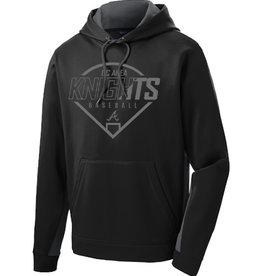 QC Area Knights Limited Edition Blackout Performance Fleece Hoodie-Black/Grey