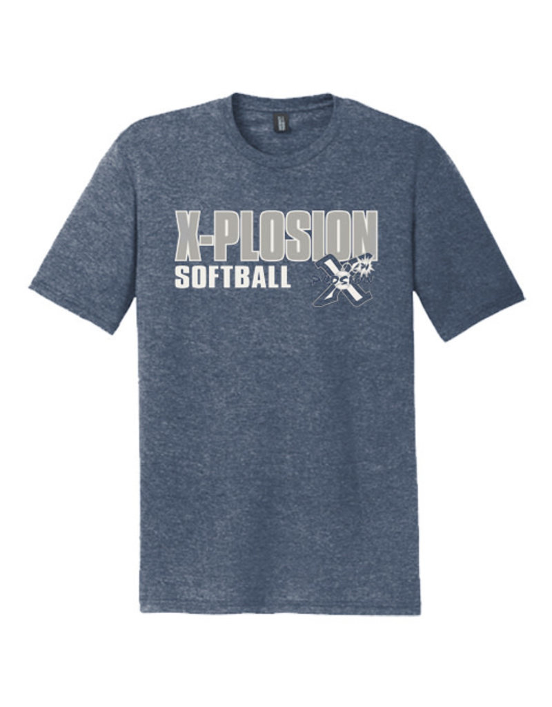 PV X-Plosion Triblend Short Sleeve Tee-Navy Frost